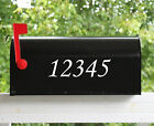 "Set of 2 - 2.5"" Custom Mailbox Decals Sticker Street Numbers 12 Fonts Available"