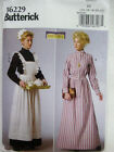 Dress and ruffled Apron Sewing patten for ladies Victorian Edwardian  6-22 B6229