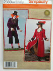 Sewing patten for mens Pirate Mad Hatter Ren-faire costume sizes Xs-XL S2333