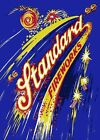 RETRO METAL PLAQUE Standerd Fireworks! Reach for the Skys sign/ad