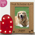 Personalised Engraved Paw Print Photo Frame - Pet Dog Nickname Gift Dog Puppy