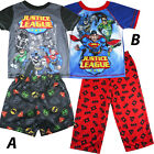 Boys JUSTICE LEAGUE superhero pjs pyjamas hulk batman superman size 6-12