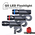 CREE Q5 LED Bicycle Bike Torch Head Front Rear Tail Safety Lamp Flashlight
