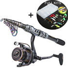 Fishing Combos Telescopic Fishing Rod with Spinning Fishing Reel Tackles Sets