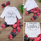 baby stores clothes - US Store Newborn Baby Girls Tops Romper Flowers Pants 3Pcs Outfits Set Clothes