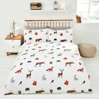 Country Woodland Animals Owls, Foxes, Rabbits etc Duvet Set S/D/K By Rapport