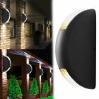 1-4x LED up down wall lamp glass exterior luminaire round accent lighting ALU