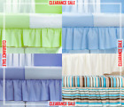 DUST RUFFLE FIT COT 120x60 JUNIOR BED 140x70 BLUE PURPLE CREAM GREEN TURQUOISE