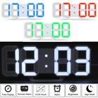 Modern Digital 3D LED Table Wall Clock Alarm 24/12Hr Display USB/Battery Snooze