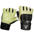 Zimco Weight Lifting Gloves Fitness Mitts Genuine Leather Gloves Khaki