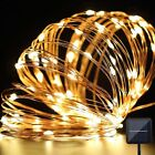 10M/100LEDS Lights Solar Powered Copper Wire String Fairy Waterproof Light Lamp