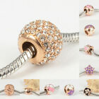 Rose Gold 316L Stainless Steel Charms Spacer Beads for Women DIY Euro Bracelets