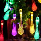 High Quality LED Solar Christmas Lights Waterproof Water Drop Romantic Solar Fai