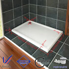 40mm Slimline Rectangle Shower Enclosure Stone Resin Tray Corner FREE Waste Trap