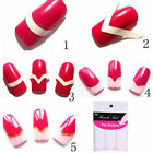2 Sheets French Manicure UV Gel Polish Tips Guide Strip Nail Art Tool Each