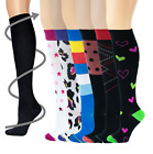 6 Pairs Women Different Touch Graduated Compression Knee Hig