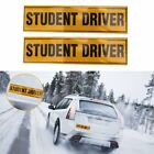 """Magnetic """"STUDENT DRIVER"""" Reflective Sticke Decal 12""""x3"""" Car Rear Safety Sign"""
