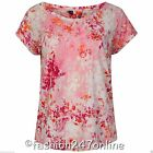 Ladies Ex M&5 Pink Mix Flower Design T-Shirt -Sale Now On Only £5.99 was £8.99
