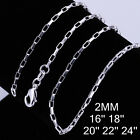 Wholesale 925 Sterling Silver filled Chain fashion Necklace jewelry 16-24inch