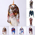 Winter Triangle Scarf Women Shawl Cashmere Autumn Plaid Wool Scarves Blanket