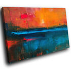 SC889 blue orange abstract landscape Scenic Wall Art Picture Large Canvas Print
