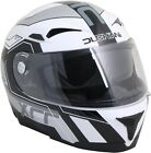 Duchinni D405 XRR Silver White Full Face Motorcycle Crash Helmet New