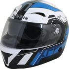 Duchinni D405 XRR Blue White Full Face Motorcycle Crash Helmet New