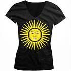 Argentina Sun Of May Golden Argentinian Country Pride ARG Juniors V-Neck T-Shirt