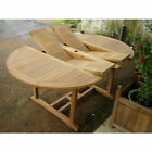 KYOTO DBL EXT 120-180CM TEAK WOOD GARDEN KITCHEN TABLE CHAIRS STACKING FOLDING