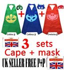 PJ Masks Cape Mask Set Catboy Owlette Gekko fancy dress Costume Party toys Kids
