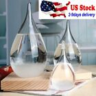 US Weather Forecast Crystal Drops Water Shape Storm Glass Home Decor Xmas Gift