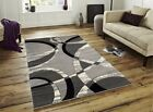 Silver Black Grey Modern Rug Soft Thick Runner Rugs Small Extra Large Mat Cheap