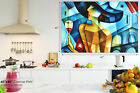 E086 yellow abstract woman painting  Canvas Wall Art Framed Picture Print
