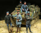 WW1 French Tank Crewman BIG SET Scale Resin Model Kit 5 figures 1 35 Scale
