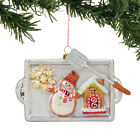 4057907 Dept 56 Cookie Pan Tray Glass Christmas Ornament Baker Gingerbread House
