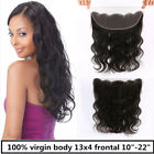"USA STOCK Virgin Remy Brazilian 13x4 Middle Part Lace Frontal Closure 10""-22"""