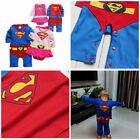 100% Cotton Toddler Fancy Dress Party Costumes Super Hero Jumper Cape 0-24months
