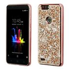 For ZTE Sequoia /Blade Z Max Bling Hybrid Glitter TPU Protective Hard Case Cover