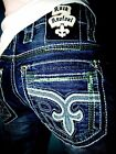 NWT New Mens Rock Revival Straight Jeans Raynon 38X34