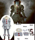 Halloween COS Stephen King's It Pennywise Cosplay Clown Costume Full Set