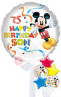 Mickey Happy Birthday Son - Inflated Birthday Helium Balloon Delivered in a Box