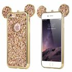 Luxury Bling Soft TPU Protective Cute Case Mickey Ear For iPhoneX Samsung Phones