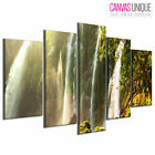 PC500 Green Jungle Waterfall Photo Scenic Multi Frame Canvas Wall Art Print