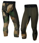Nike Pro Hypercool Compression 3/4 Pants Men's Green Camo Tights 904632-325