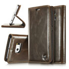 For Samsung Galaxy Phones Patent Leather Magnetic Card Wallet Folio Case Cover