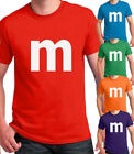 M candy T-shirt Halloween Costume easy cosplay chocolate group & family M Shirts