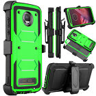 For Motorola Moto Z2 Play/ Force Phone Case Hybrid Holster Clip Stand Hard Cover