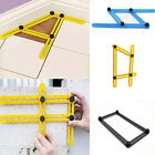 1X Adjustable Four-Sided Folding Measuring Tool Multi-Angle Template Scale Ruler