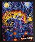 Jack Sally Jack and Sally Nightmare Before Christmas Van Gogh Starry Night A005
