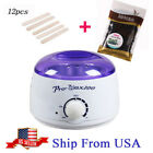 Hair Removal Hot Electric Wax Warmer Heater Pro Machine Hard Beans 12pcs Kit